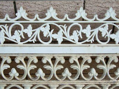 Vintage Federation Floral Wrought Cast Iron Driveway Gates Garden Queenslander