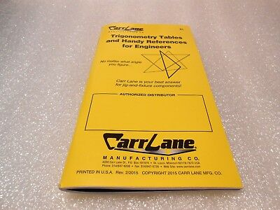 Carr Lane Trigonometry Tables & Handy References For Engineers Trig Book 2015