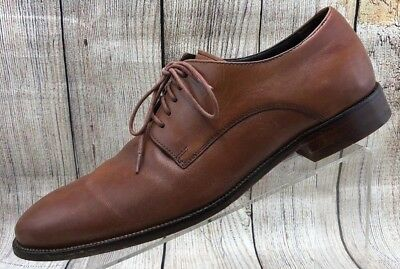 Cole Haan 5713141 Light Brown Leather Dress Loafer LaceUp Oxford Mens Sz 12M