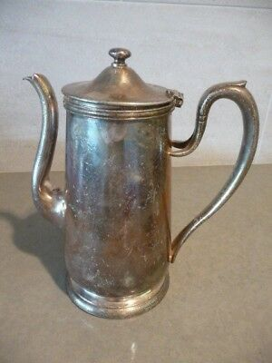 Vintage THE WALDORF ASTORIA Silver Plated Coffee Tea Pot dated 1956 54 oz