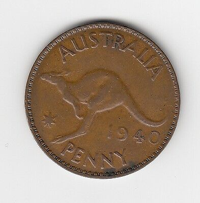 1940M Australia Kgvi Penny - Nice Collectable Vintage Coin