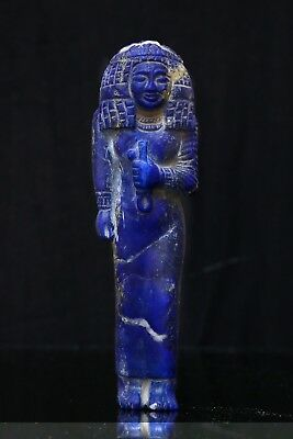 ANCIENT EGYPTIAN ANTIQUES STATUE Queen Nakhtmin Natural LAPIS LAZULI Gemstone BC