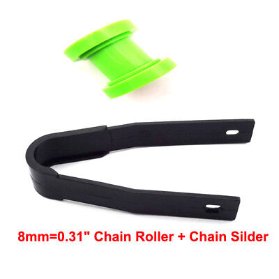 Green 8mm Pulley Chain Roller Tensioner Chain Slider Guard Pit Dirt Motor Bike