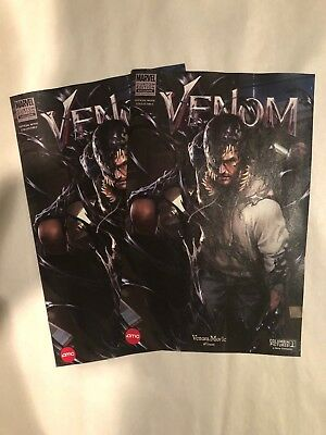 Marvel Venom Comic Custom Edition AMC Exclusive - Two (2) Comic Lot