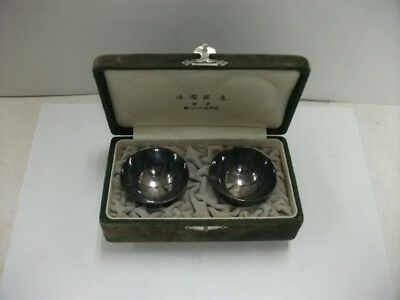Japanese Antique Pure silver Japanese SAKE cup 2 pieces  #34g./1.20oz
