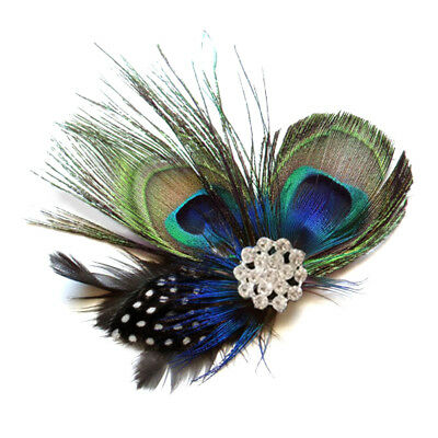Vintage Peacock Feather Wedding Hair Clip Hairpin Bridal Festival Dance Party AU
