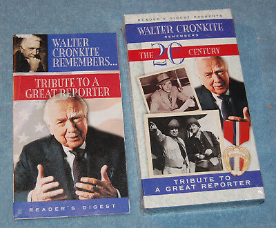 Walter Cronkite Remembers Early Cronkite Vhs Tape New Factory