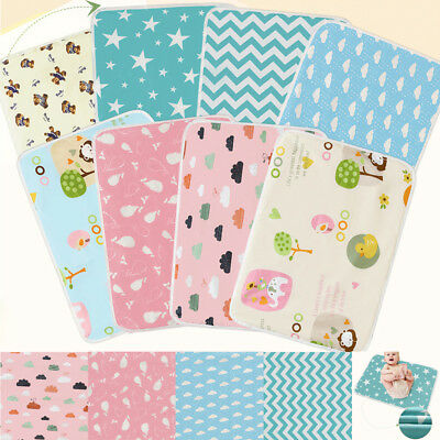 UK Waterproof Changing Diaper Pad Cotton Baby Infant Urine Mat Nappy Washable