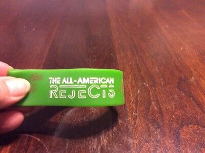 THE ALL-AMERICAN REJECTS Green Rubber Bracelet Wristband Kids in the Street