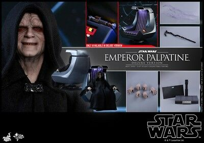 Hot Toys 1/6 MMS468 Star Wars Emperor Palpatine Figure Toy Deluxe Ver.Collection