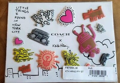 Coach New York X Keith Haring Puffy Sticker Set Little Things I Found In NYC NEW