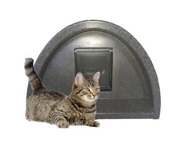 With Free Postage For £54.99  Outdoor Cat Kennel Plastic Cat House + Flap