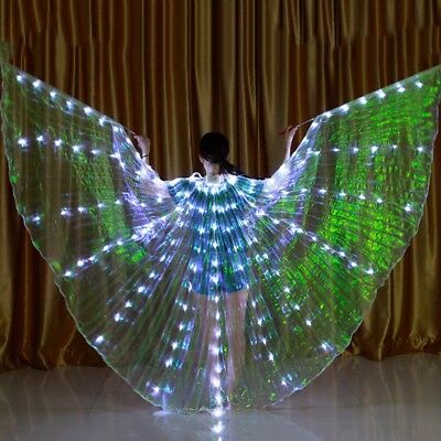 Dance LED Wings Light Up Halloween Costumes Stage Performance Clothing GYTH