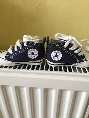 Baby Boys Blue Canvas Shoes Converse Brand New