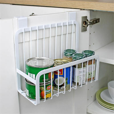 Metal Over Door Storage Basket Kitchen Cabinet Organizer Bathroom Accessories