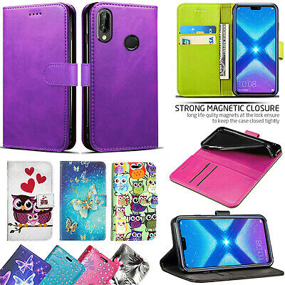FOR HUAWEI HONOR 8X - New Genuine Leather Stand Flip Wallet
