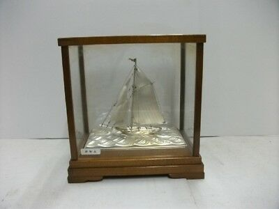 The sailboat of Silver985 of Japan.  #30g/ 1.06oz. Japanese antique