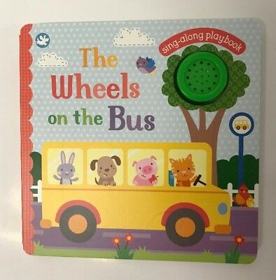 The Wheels On The Bus Sound Book Kids Ages 0 Month+ Sing Along Playbook New Gift