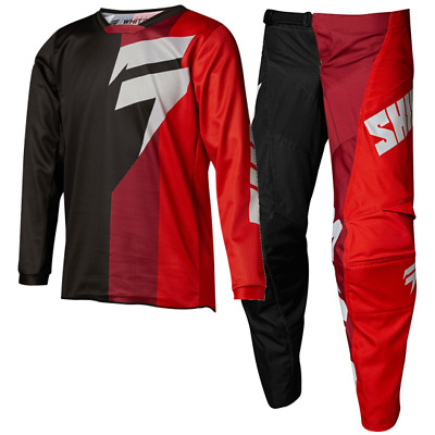 NEW SHIFT MX 18 Whit3 Tarmac Kids Black Red Motocross Jersey Pants Outfit Youth