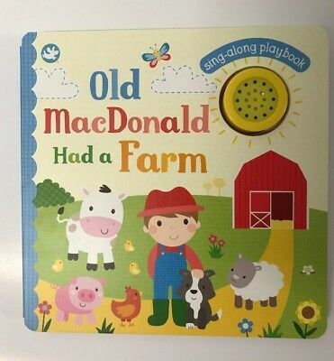 Old MacDonald Had A Farm Sound Book Ages 0 Month+ Sing Along Playbook New Gift