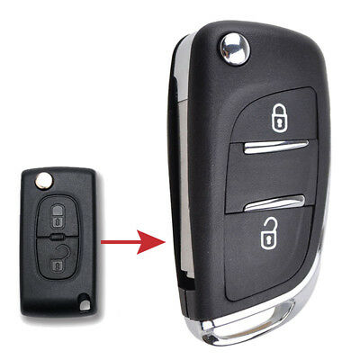 Fit For Citroen C2 C3 C4 Picasso Case Fob Flip Remote Key Replacement Shell