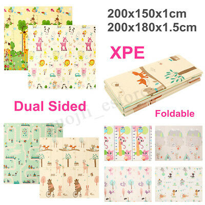 Foldable Nontoxic XPE Baby Kid Play Mat Floor Rug Animal Picnic Cushion Crawling