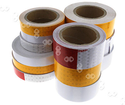 3 Colors Self-Adhesive Roll Reflective Safety Warn Caution Conspicuity Tape