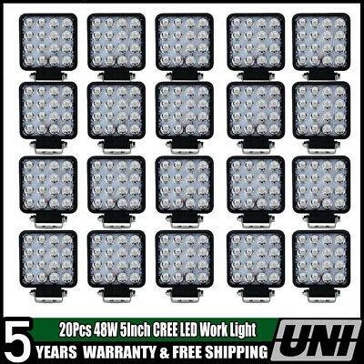 20X 48W 12V 24V LED Work Light Flood Light OffRoad ATV SUV Boat Jeep Truck /Spot