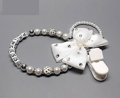 Baby Pacifier Beautiful Princess Pearls Chain /Pacifier clips/Dummy clips