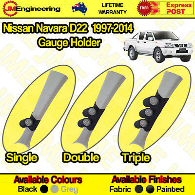 "Nissan Navara D22 Gauge Holder Pillar Pod 1997-2014 CLIP ON 60mm 52mm 2"" inch"