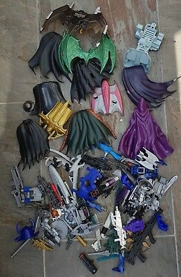 Job Lot Of Accessories From Action Figures Mainly Batman / Capes / Guns Etc