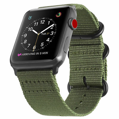 Nylon Woven Sport Loop Watch Band Strap For Apple iWatch Series 38/40/42/44mm