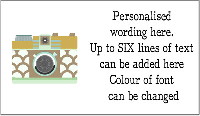 Colourful Camera Photography style Personalised Self Adhesive Labels