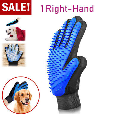 1 PC Pet Dog Grooming Gloves Brush Cat Massage DeShedding Comb Hair Fur Remover