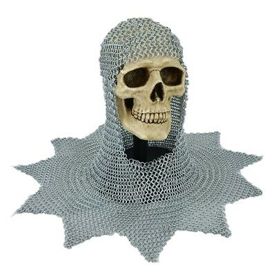 Aluminum Chain Mail Coif / Chainmail Hood Medieval Re-enactment Armor Costume