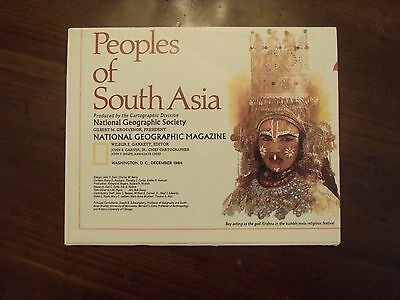 National Geographic Map Peoples Of South Asia December 1984