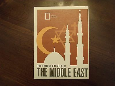 National Geographic Map Two Centuries Of Conflict In The Middle East Sept. 1980