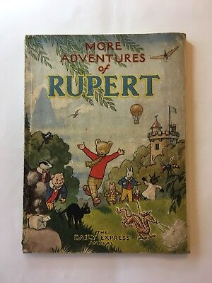 Original 1947 More Adventures of Rupert Annual War Economy Great Condition