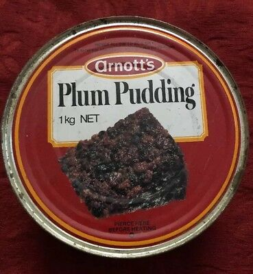 Vintage Arnotts Plum Pudding Tin Collectable Tins FULL UNOPENED
