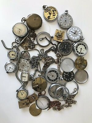 Job Lot Of Antique And Vintage Pocket Watches - Spares