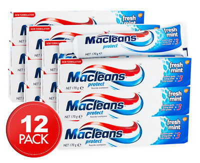 12 x Macleans Protect Toothpaste Fresh Mint 170g