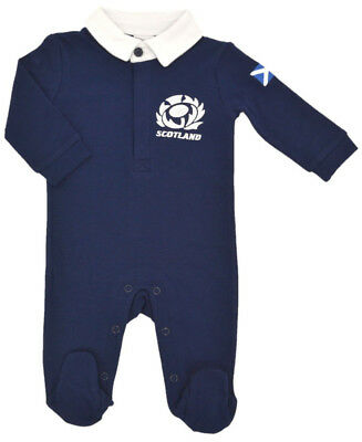 Official Scotland Rugby Baby Sleepsuit  | Navy | 2018/19 Season
