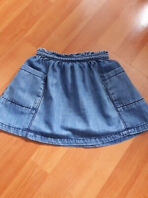 Excellent condition Next Girls Denim Skirt 12-18 Months