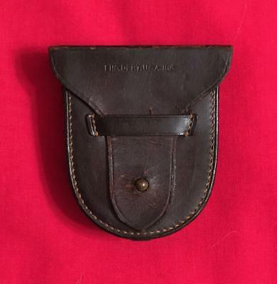 Ww1 U.s. Leather Pouch For Engineering Dept Instrument Compass Or Other ?