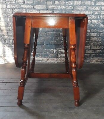 Vintage Old Tavern Country Style Drop Leaf Kitchen Dining Dinette Table