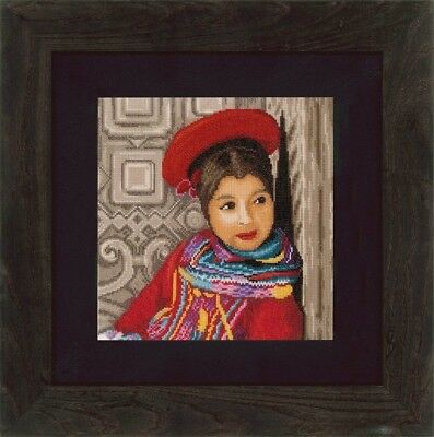 "LANARTE ""PERUVIAN GIRL""CROSS STITCH KIT Kreuzstich STICKPACKUNG"