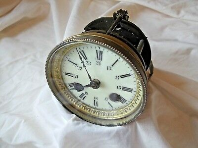 French 8 Day Mantle Clock Movement For Repairs Comes With Pendulum +