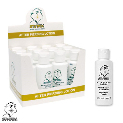 12 x 50ml - STUDEX PIERCING AFTERCARE LOTION : HEALING AND PROTECTION -EAR NAVEL