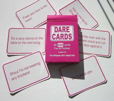 24 DARE CARDS HEN PARTY GAMES   HEN NIGHT   Girls Night Out   Fun & Frolics!