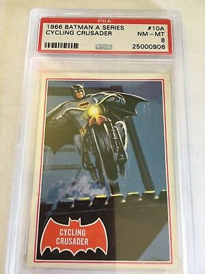 1966 Batman #10A Cycling Crusader ** PSA 8 NM-M